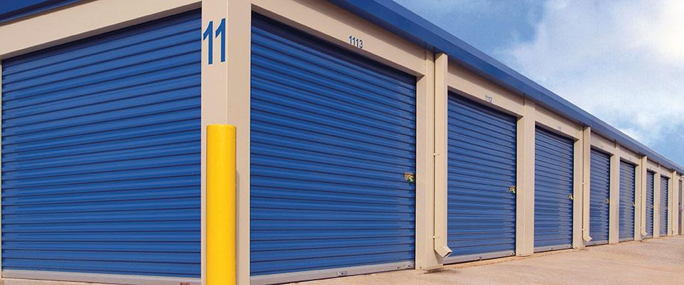 Blue Commercial Garage Doors