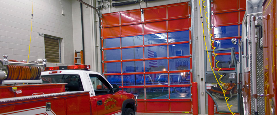 Red Firehouse Commercial Garage Doors